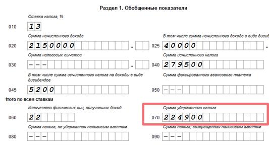Строки 070 и 040 в 6-НДФЛ: что туда входит, как заполнить, чему равны и прочие нюансы
