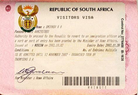Виза в ЮАР в 2020 году: правила оформления для россиян и других иностранцев